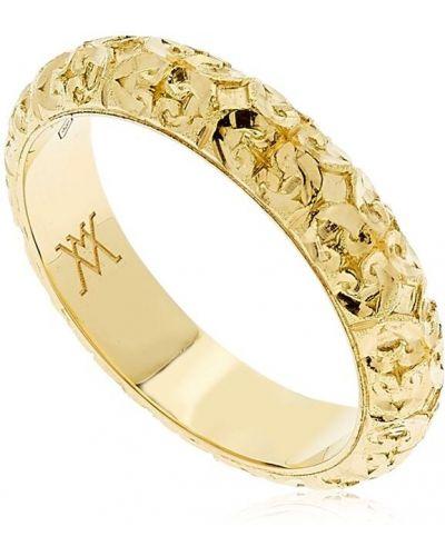 Żółty złoty pierścionek Vanzi