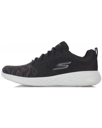 Черные кроссовки беговые Skechers
