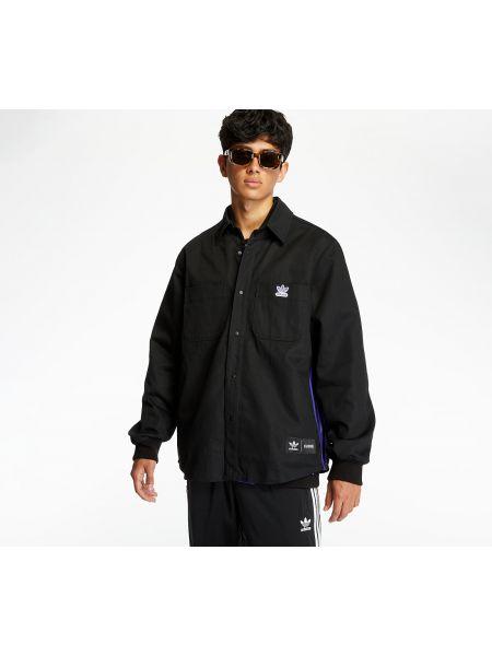 Брендовая черная куртка двусторонняя Adidas Originals