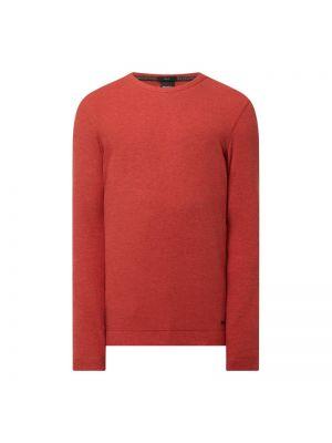 Pomarańczowy sweter bawełniany Boss Casualwear