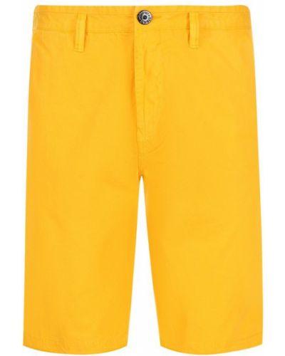 Желтые шорты Stone Island