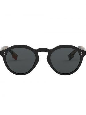 Прямые черные солнцезащитные очки круглые с завязками Burberry Eyewear