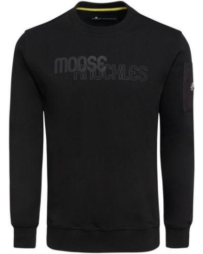 Czarna bluza z printem Moose Knuckles