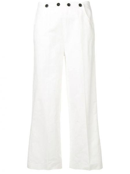 Свободные брюки белые с карманами Bellerose