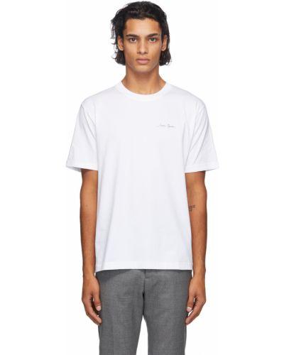 Biały t-shirt bawełniany krótki rękaw Carne Bollente