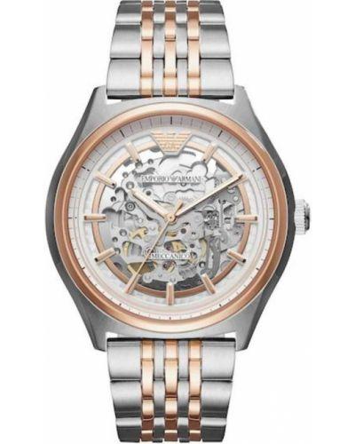 Złoty zegarek mechaniczny Emporio Armani