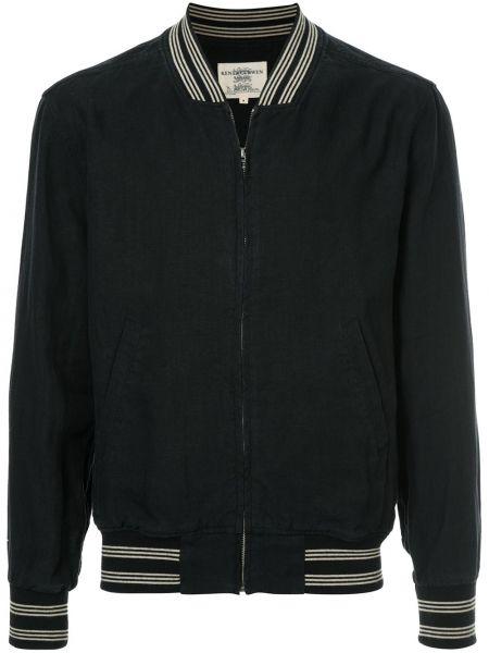Куртка черная льняная Kent & Curwen