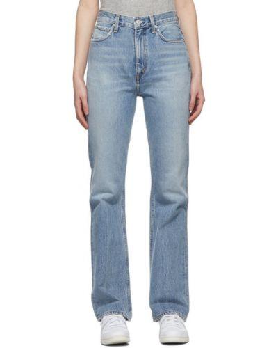 Rozbłysnął niebieski jeansy z kieszeniami zabytkowe Agolde