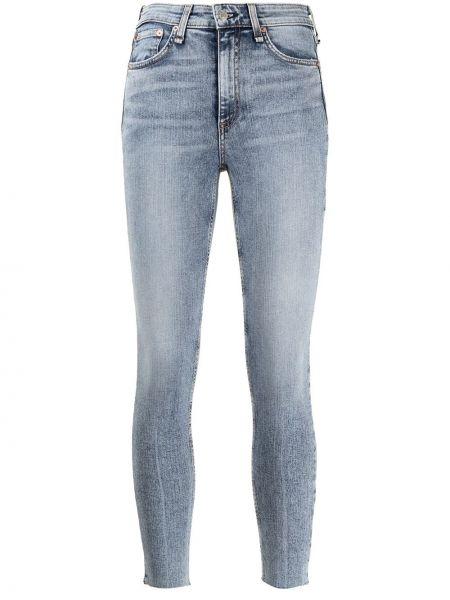 Klasyczne niebieskie jeansy rurki z wysokim stanem Rag & Bone
