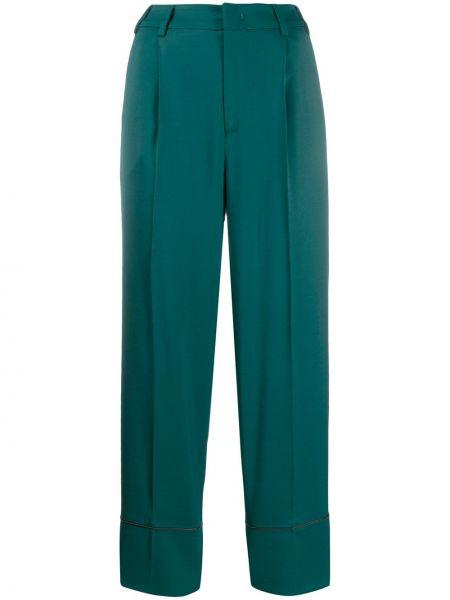 Укороченные брюки зеленый брюки-хулиганы Pt01