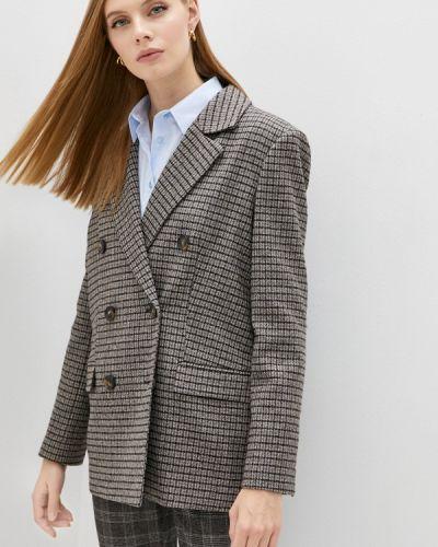 Коричневый итальянский пиджак Trussardi