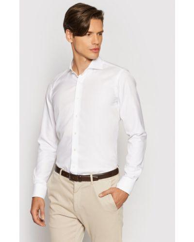 Biała biała koszula Emanuel Berg