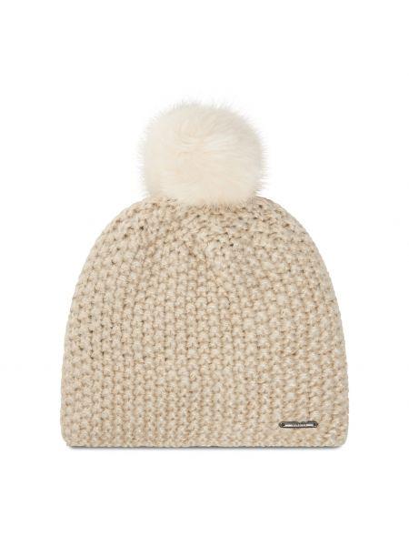 Beżowa czapka z akrylu Barts