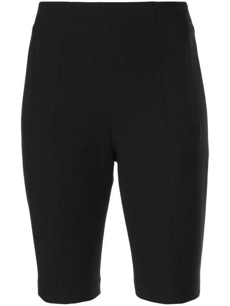 Однобортные облегающие черные шорты Tibi