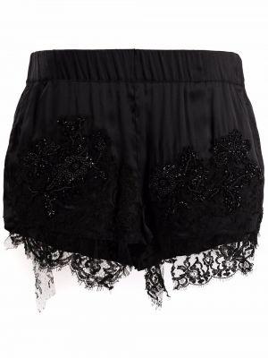 Черные шелковые шорты Almaz
