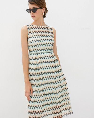 Зеленое прямое платье Cavo