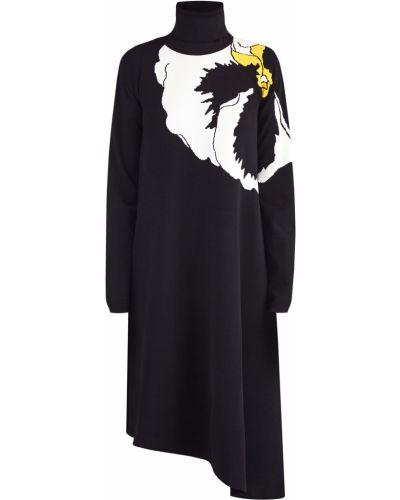 Платье с цветочным принтом с манжетами Valentino