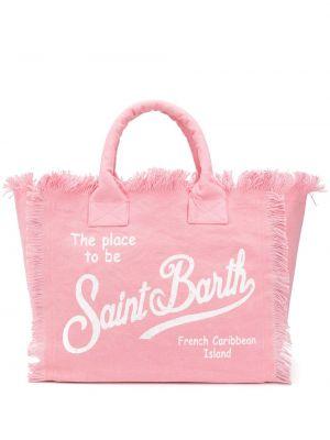 Пляжная пляжная сумка - розовая Mc2 Saint Barth