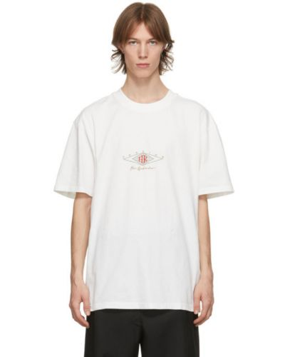 Белая футболка с воротником с вышивкой Han Kjøbenhavn