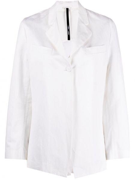 Хлопковый однобортный белый пиджак Sara Lanzi