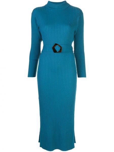 Платье миди с открытой спиной в рубчик Nicholas