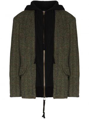 Зеленая длинная куртка Greg Lauren