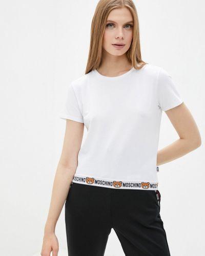Футболка с короткими рукавами - белая Moschino Underwear