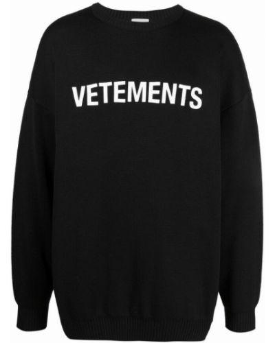 Czarny sweter Vetements