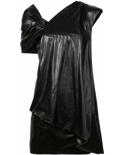 Платье на одно плечо - черное Vionnet
