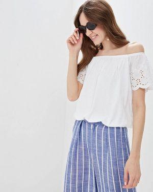 Блузка с открытыми плечами белая весенний Ostin