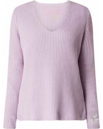 Sweter z dekoltem w serek - fioletowy Lieblingsstück