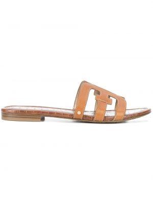 Brązowe sandały skorzane Sam Edelman