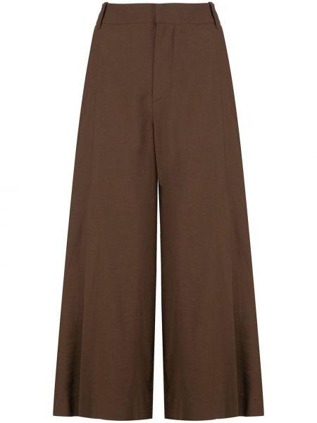 Укороченные брюки свободные со складками Vince.