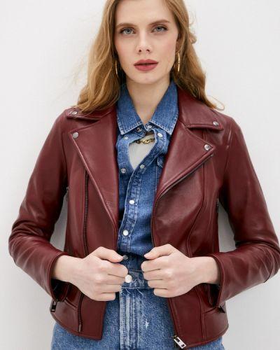 Красная кожаная куртка Blouson