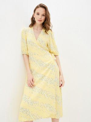 Желтое платье с запахом Mbym