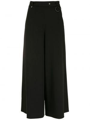Широкие брюки - черные Gloria Coelho
