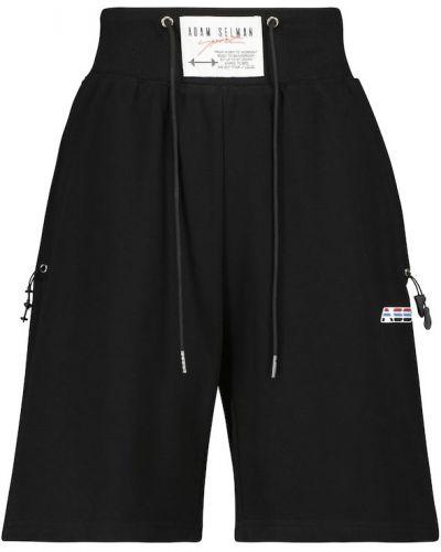Черные трикотажные спортивные шорты на шпильке Adam Selman Sport
