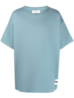 Niebieski t-shirt bawełniany oversize Facetasm