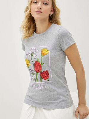 Серая футболка с короткими рукавами Winzor