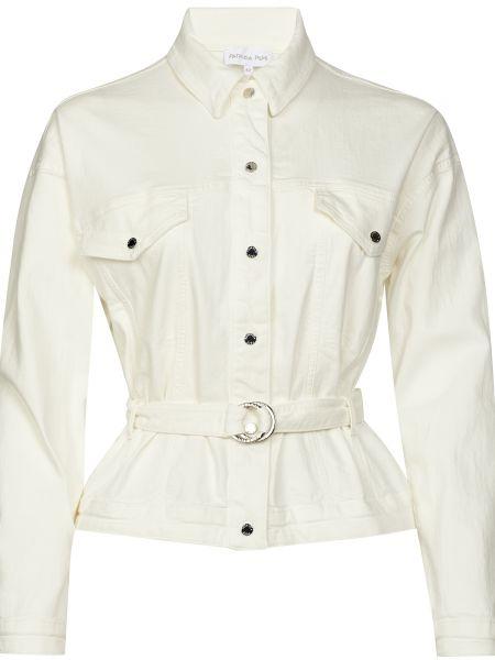 Белая куртка с поясом на кнопках Patrizia Pepe