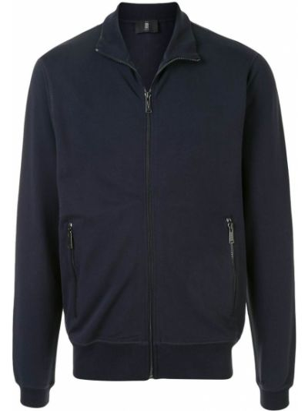 Niebieska długa kurtka bawełniana z długimi rękawami Kent & Curwen