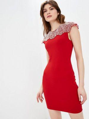 Платье весеннее красный Soky & Soka