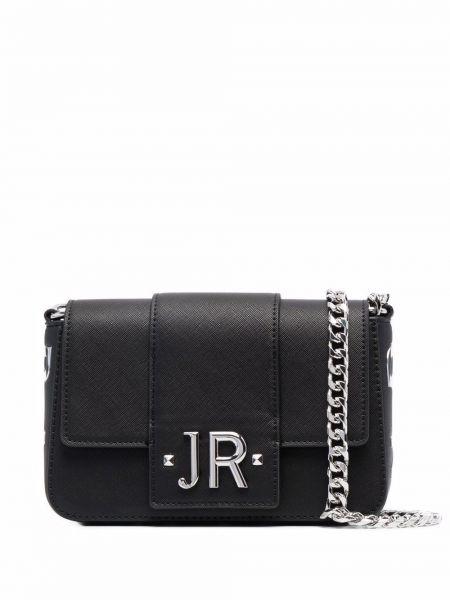 Czarny łańcuszek srebrny John Richmond