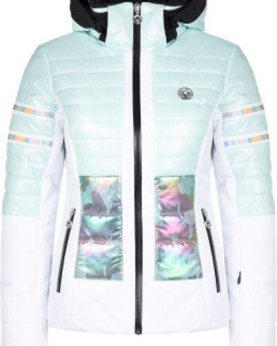 Зеленая утепленная куртка горнолыжная на молнии Sportalm