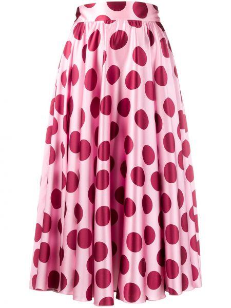 Шелковая плиссированная юбка миди со складками Dolce & Gabbana