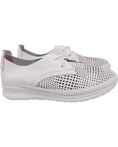 Кожаные туфли - белые Phany