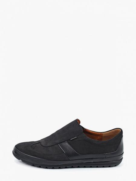 Туфли черные из нубука Wojas