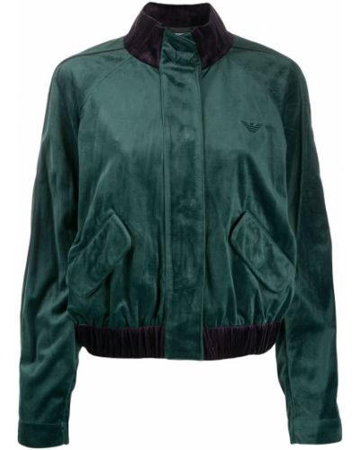 Темно-синяя длинная куртка Emporio Armani