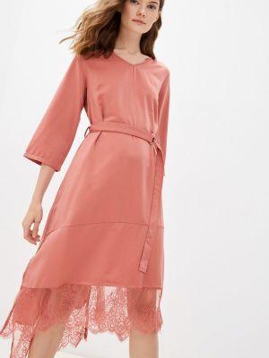 Розовое зимнее вечернее платье Cavo