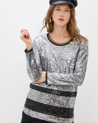 Серебряная блузка с длинными рукавами Patrizia Pepe